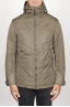 SBU 00901 Technical waterproof padded short parka jacket green 01