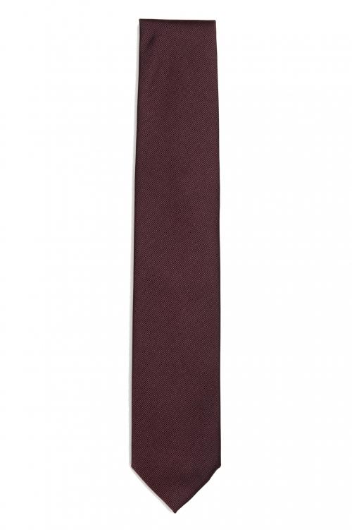 SBU 01573_2021SS 赤い絹の古典的な痩せた指のネクタイ 01