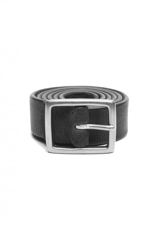 SBU 03009_2021SS Cinturón reversible de cuero marrón y negro 3 centímetros 01