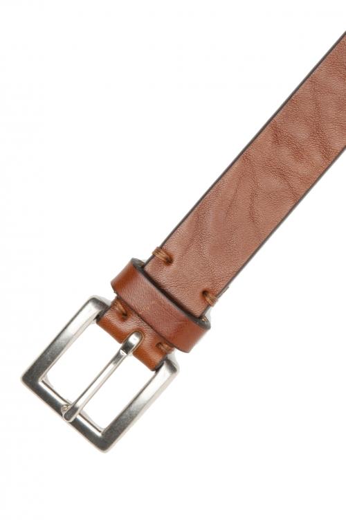 SBU 03015_2021SS Buff bullhide leather belt 0.9 inches cuir 01