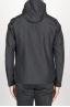 SBU 00903 Technical waterproof hooded windbreaker jacket black 04