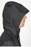 SBU 00903 Veste coupe-vent noir imperméable avec capuche 05