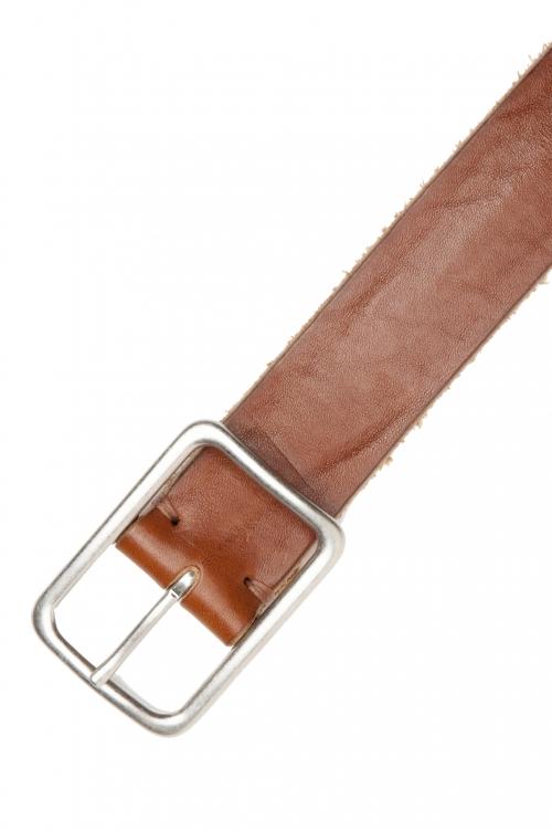 SBU 03018_2021SS Cintura in pelle di toro altezza 3.5 cm color cuoio 01