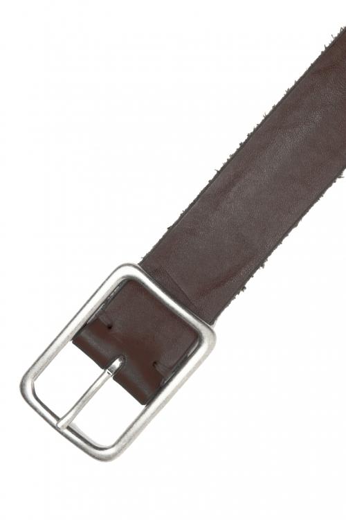SBU 03019_2021SS Cinturón de piel de vacuno 3.5 cm marrón 01