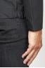 SBU 00903 Veste coupe-vent noir imperméable avec capuche 06