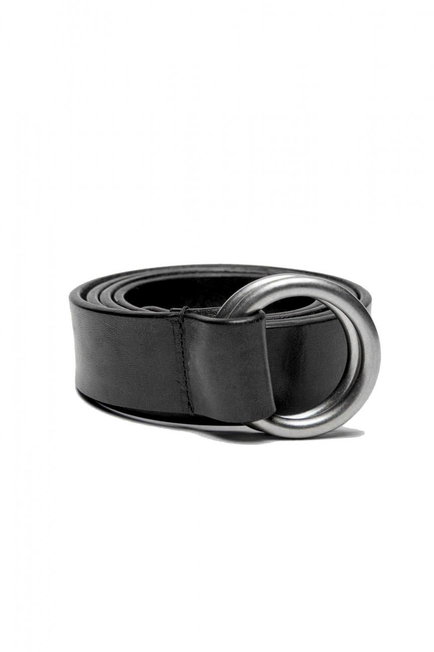 SBU 03023_2021SS Iconic black leather 1.2 inches belt 01