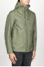 SBU 00904 Technical waterproof hooded windbreaker jacket green 02