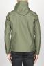 SBU 00904 Chaqueta cortavientos verde impermeable con capucha 04
