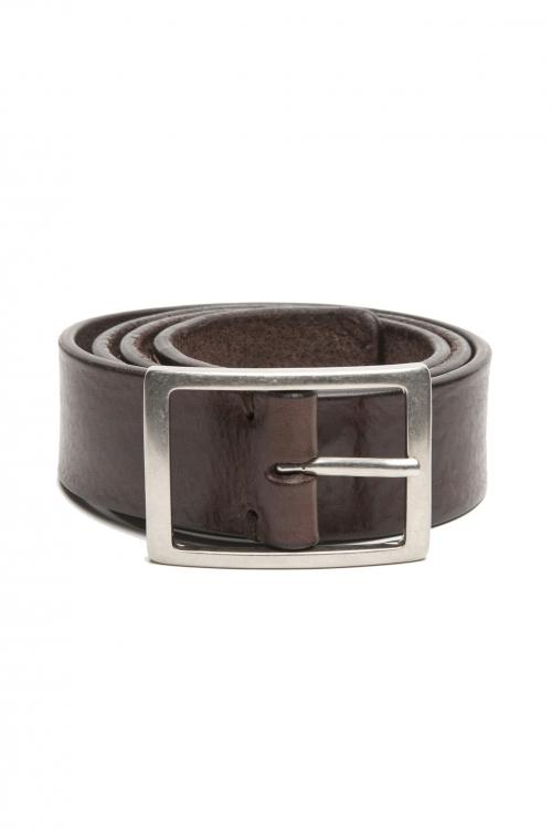 SBU 03027_2021SS Cintura in pelle di toro altezza 3.5 cm marrone 01