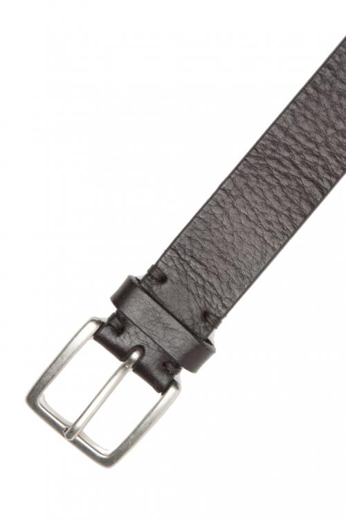 SBU 03029_2021SS Cintura in pelle di toro martellata 3 cm marrone 01