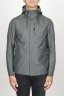 SBU 00905 Technical waterproof hooded windbreaker jacket grey 01