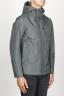 SBU 00905 Chaqueta cortavientos gris impermeable con capucha 02