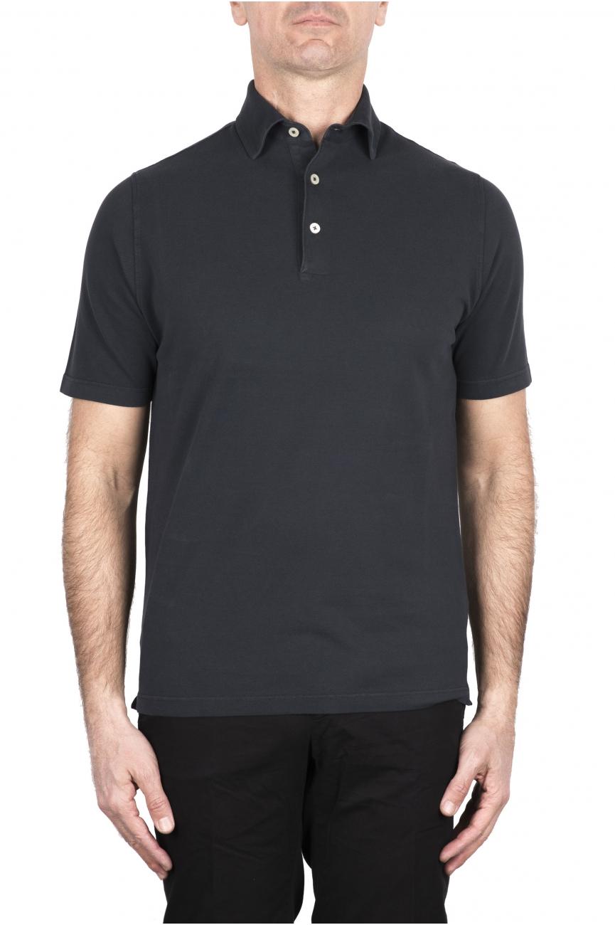 SBU 03275_2021SS Short sleeve grey pique polo shirt  01