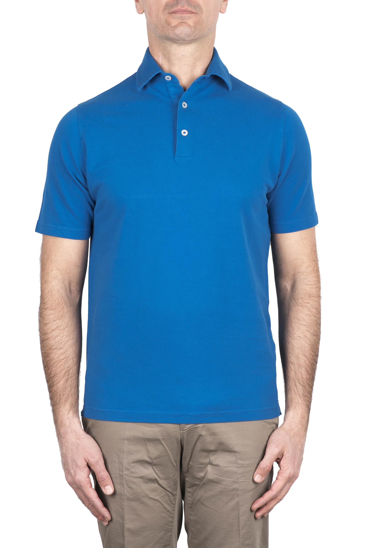 SBU 03276_2021SS Short sleeve light blue pique polo shirt  01
