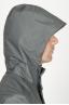 SBU 00905 Chaqueta cortavientos gris impermeable con capucha 05