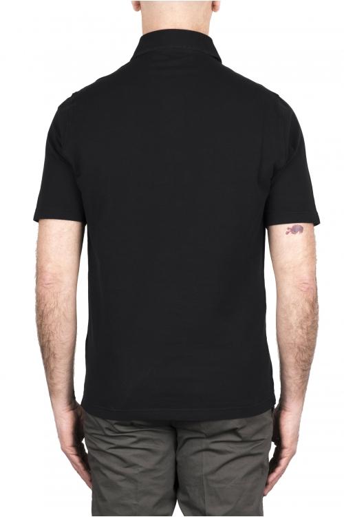 SBU 03279_2021SS 半袖黒ピケポロシャツ 01