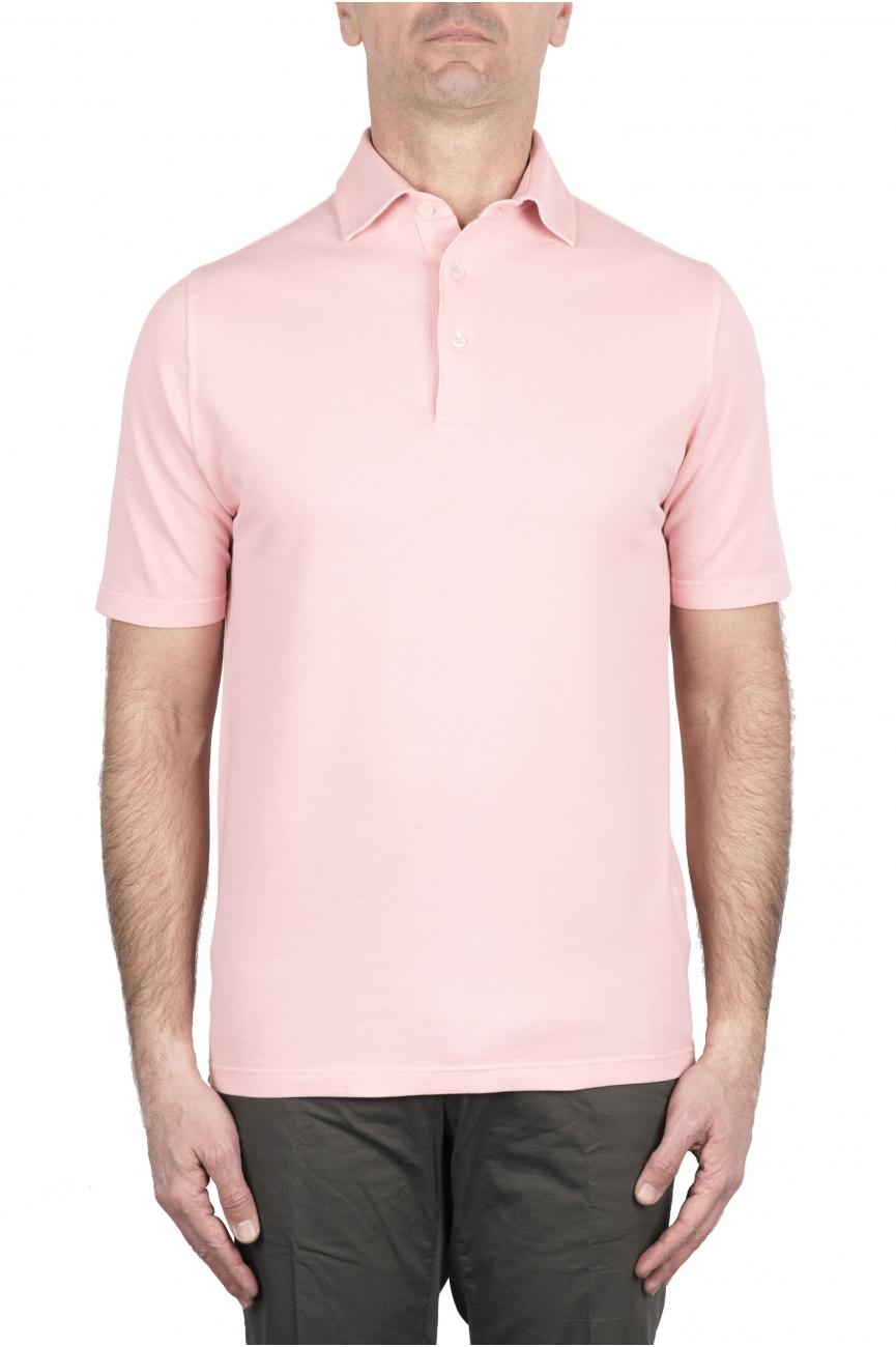 SBU 03280_2021SS Short sleeve pink pique polo shirt  01