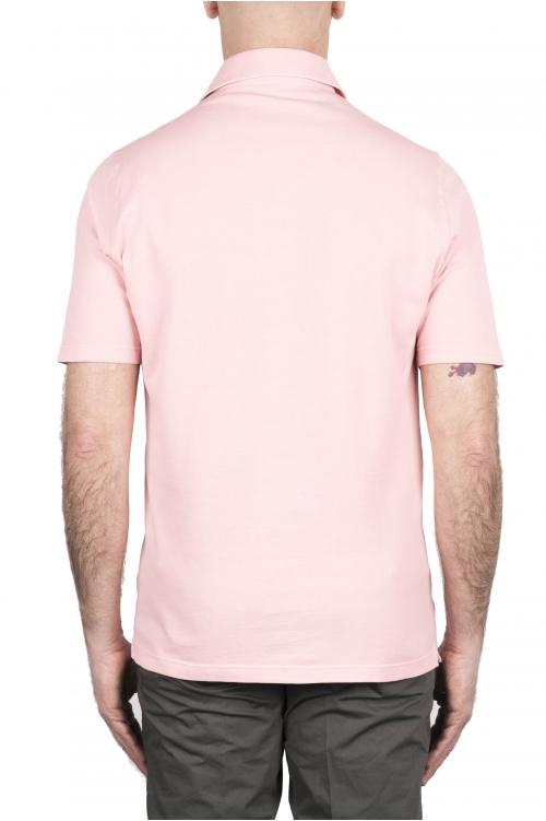 SBU 03280_2021SS Polo de piqué rosa de manga corta 01