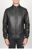 SBU 00906 Classic flight jacket in montone invecchiato nero 01