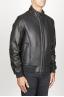 SBU 00906 Classique flight jacket en cuir d'agneau noir 02