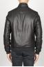 SBU 00906 Classique flight jacket en cuir d'agneau noir 04