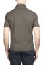 SBU 03289_2021SS Short sleeve green cotton crepe polo shirt  05
