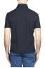 SBU 03290_2021SS Short sleeve navy blue cotton crepe polo shirt  05