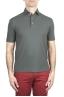 SBU 03291_2021SS Short sleeve grey cotton crepe polo shirt  01