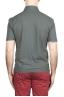 SBU 03291_2021SS Short sleeve grey cotton crepe polo shirt  05