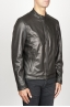 SBU 00907 Classic motorcycle jacket in black calf-skin leather 02