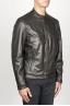 SBU 00907 Classique moto jacket en cuir de vachette noir 02