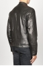 SBU 00907 Classic motorcycle jacket in black calf-skin leather 03