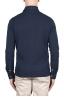 SBU 03297_2021SS Long sleeve indigo blue pique polo shirt 05