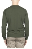 SBU 03299_2021SS Green crew neck sweater in pure cotton 05