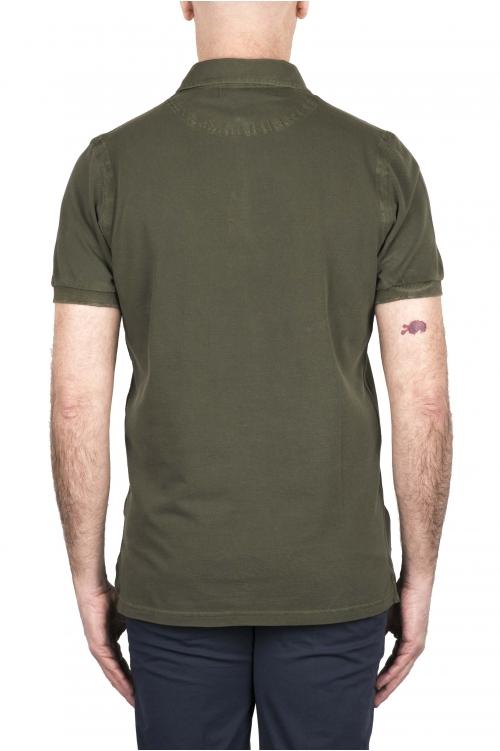 SBU 03284_2021SS Short sleeve green pique polo shirt  01