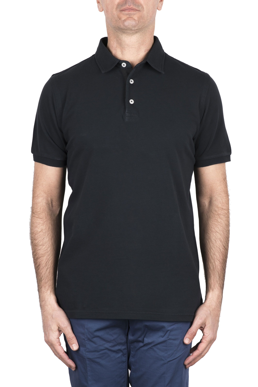 SBU 03285_2021SS Short sleeve chalkboard grey pique polo shirt  01