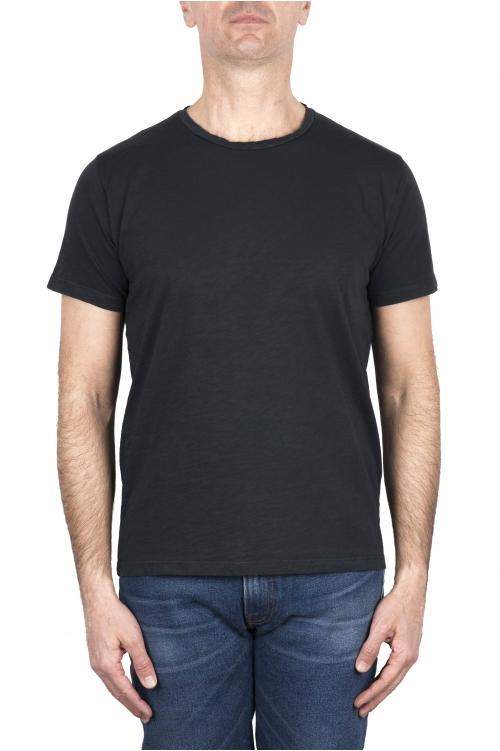 SBU 03304_2021SS T-shirt girocollo aperto in cotone fiammato lavagna 01