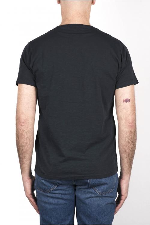 SBU 03304_2021SS T-shirt col rond en coton flammé tableau gris 01