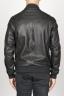SBU 00908 Classic bomber jacket nera in pelle di vitello  04