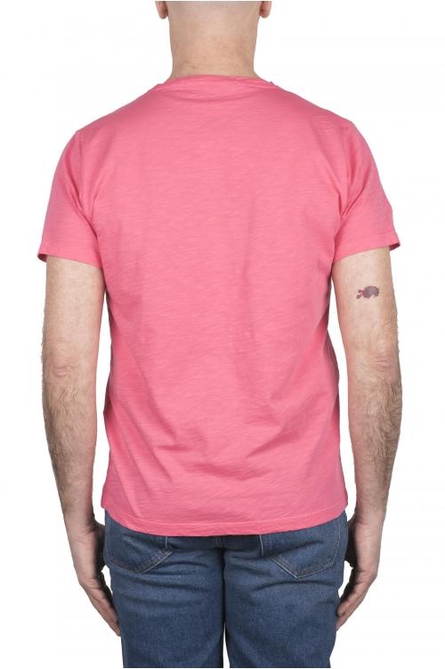 SBU 03305_2021SS T-shirt col rond en coton flammé rose 01