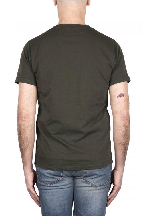 SBU 03306_2021SS T-shirt col rond en coton flammé vert 01
