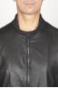 SBU 00908 Classique bomber jacket en cuir de vachette noir 05