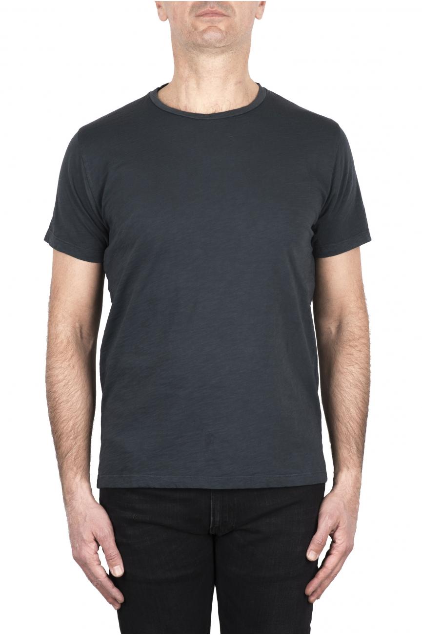 SBU 03308_2021SS Flamed cotton scoop neck t-shirt lead grey 01