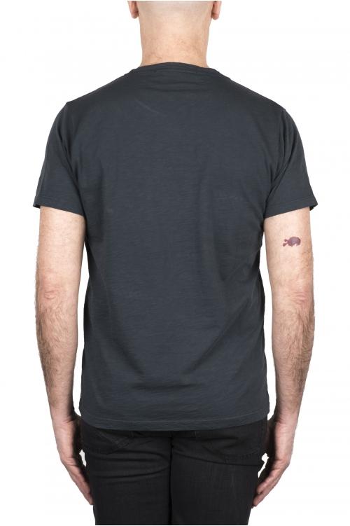 SBU 03308_2021SS Camiseta de algodón flameado con cuello redondo gris plomo 01