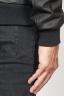 SBU 00908 Classic bomber jacket nera in pelle di vitello 06