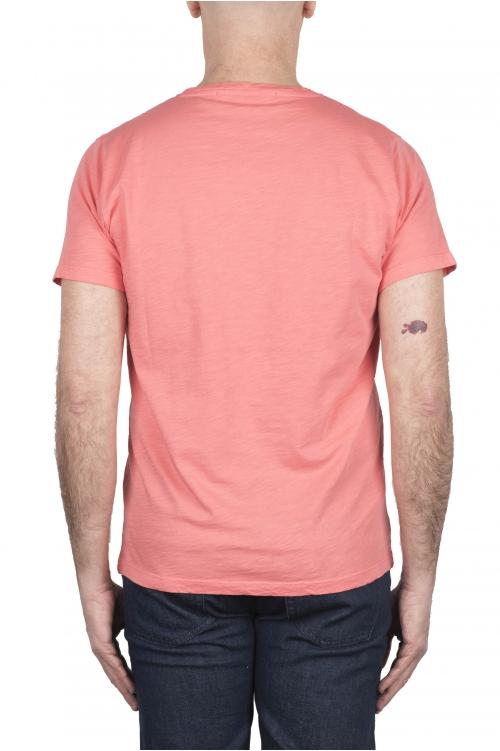 SBU 03309_2021SS T-shirt girocollo aperto in cotone fiammato salmone 01
