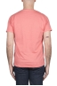 SBU 03309_2021SS Flamed cotton scoop neck salmon t-shirt 05