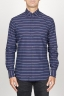 SBU 00921 Classic point collar blue striped cotton shirt 01