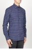 SBU 00921 Classic point collar blue striped cotton shirt 02