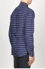 SBU 00921 Clásica camisa azul de rallas de algodón con cuello de punta  03